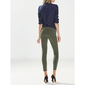 Mother The Looker Crop Pants Army Green 🍁